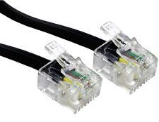 5m RJ11 To RJ11 Cable Lead 4 Pin ADSL BROADBAND Router Modem Phone 6p4c BLACK