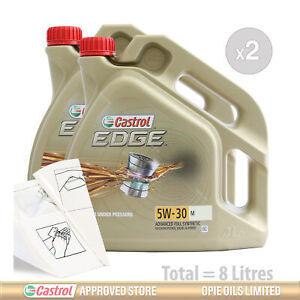 Car Engine Oil Service Kit / Pack 8 LITRES Castrol EDGE 5w-30 M 8L