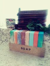 PAPA'S (8) Bars  ASSORTED Scents Goat's Milk SOAP LOT HOMEMADE Handmade