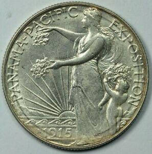 1915 S Pan-Pac Half Dollar 50c Commemorative AU/UNC Details About Uncirculated+