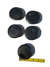 Commercial Electric 2 1/4  in. Furniture Hole Cover, Black (5 units)
