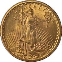 1907 Saint-Gaudens Gold $20 PCGS MS63 Great Eye Appeal Nice Strike