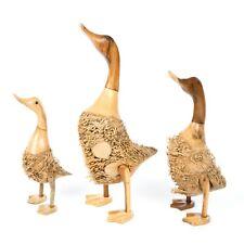 More details for fair trade sruffy standing bamboo root ducks - du-599