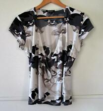 Rockmans Polyester Cap Sleeve Regular Tops & Blouses for Women
