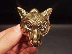Antique Vintage Style Small Solid Brass Fox Door Knocker Hardware