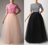 Simple Women Skirts Long tulle Formal Wedding Evening Prom Party Skirt For Women