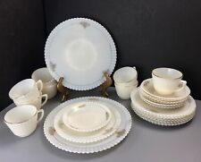 26 Pcs Vintage Petalware Cremax By MacBeth-Evans Dinnerware Set