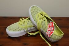 NEW Vans Off the Wall Mesh Net Breathable Sneakers Shoes Womens 6 Yellow & White