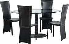 Fixed Oval Piece Table & Chair Sets 5