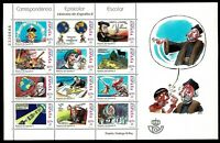 MP.76 Minipliego Correspondencia epistolar escolar 2001 sellos España stamps