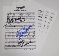 "Mark Farner GRAND FUNK RAILROAD Signed ""Mean Mistreater"" Sheet Music by All 3"