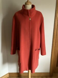 Basler Immaculate Burnt Orange Wool / Angora Mix Coat Size UK 18 EU 46
