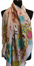 100 % silk scarf, hand rolled edges, luxurious 12 momme weight, square 90x90cm