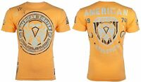 AMERICAN FIGHTER Mens T-Shirt KENNESAW Athletic ORANGE Biker Gym MMA $40