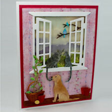 Lovely Cat on the window Metal Cutting Dies For Scrapbooking Craft Decor HH