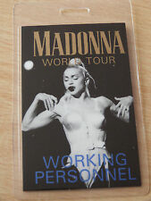 MADONNA Laminated WORKING PERSONNEL Backstage Pass - GIRLIE SHOW WORLD TOUR