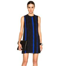 Proenza Schouler Dress NWT size 2 Black Red Silk Shift Striped Print Valentino