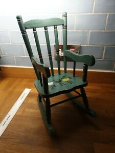 Wooden rocking chair For Doll.     In box n