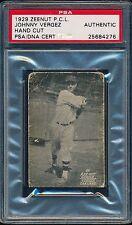 1929 Zeenut (PCL) JOHNNY VERGEZ (Oakland) -*RARE* Autographed (d.1991) PSA