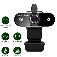 HD 1080P Computerkamera Webcam USB 2.0 Mit Mikrofon für PC  Mac Videokonferenzen
