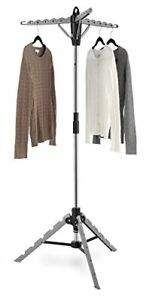 Collapsible Folding Tripod Clothes Dryer Rack Hanger Garment Home Laundry StandF