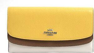 Coach 53858 Colorblock Double Flap Envelope Wallet NWoT - DEFECTS