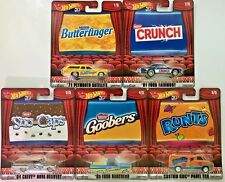 Hot Wheels 2018 Pop Culture Candy Cars #FKY22 1:64 Scale (Complete Set of 5)