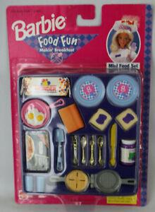 NEW NRFB Barbie Food Fun Makin' Breakfast 1998 OOP Vintage Diorama Accessory Set