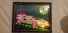Rare Vintage Lamborghini Eleco Led Illuminated Clock