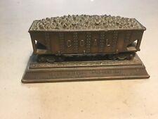 Antique Bronze COAL CAR Railroad Hopper Paperweight, PA Coal Co. circa 1920's!!