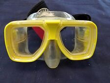 TUSA Liberator Plus Yellow Wraparound Mask with Case and Sea Drops