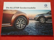 "VW Polo Golf Beetle Jetta Scirocco Sharan ""Allstar"" Sondermodelle Prospekt 2015"