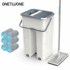 Magic Automatic Flat Mop with Bucket Floor Cleaning Cloths Avoid Hand Washing