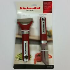 Kitchen Aid Peeler Set Julienne Peeler & Serrated Peeler Red