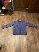 Mens PETER MILLAR Navy Blue Diamond Quilted Jacket Coat L