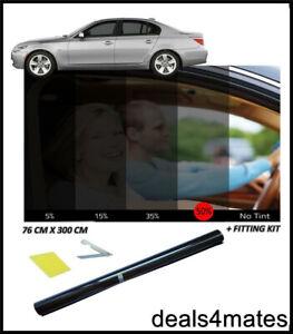 CAR CARAVAN CAMPER WINDOW TINT FILM TINTING LIGHT BLACK SMOKE 50% 76cm x 3M NEW