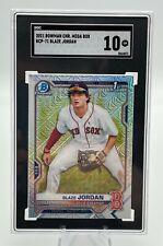 Blaze Jordan 2021 Bowman 1st Chrome Prospect Mega Box Mojo SGC 10! Low Pop.