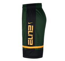 Nike Shorts Mens Medium Green Gold Authentic DriFit Elite Basketball Loose Fit