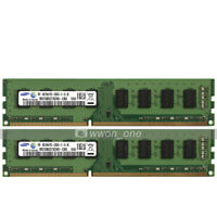 Samsung 8GB 2x4GB PC3-12800 DDR3 1600MHz 240Pin UDIMM Desktop Memory Low Density