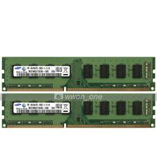 Samsung 8GB 2x4GB PC3-12800 DDR3 1600MHz 240Pin UDIMM Desktop Memory Low Density