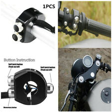 "1"" CNC NEW Motorcycle Handle Grips Reset 3 Buttons Self Latch&Momentary Switch"