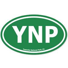 "Yosemite National Park Green Oval car bumper sticker 5"" x 3"""
