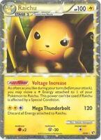 Pokemon Card - Undaunted 83/90 - RAICHU (Prime) (holo-foil) *Heavy Played*