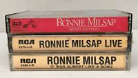 Lot of 3 RONNIE MILSAP Cassette Tapes ~ Heart & Soul, Live, It Was Almost Like