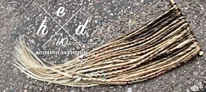 10 x NATURAL MIXED OMBRE HANDMADE SYNTHETIC SINGLE ENDED DREADLOCKS DREADS WRAPS