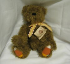 "Vintage Boyds Bears Head Bean Collection Corney 14"" Thanksgiving Brown Bear"