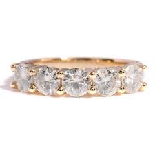 14K Yellow Gold 1.0Ctw 3.5mm Df Color Moissanite Diamond Wedding Band