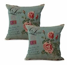 US Seller-Set of 2 European vintage floral cushion cover couch pillow cases