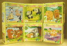 MILTON BRADLEY - 6 DIFFERENT CHILDRENS  25 PC JIG SAW PUZZLES    ZHAS-4288