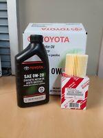 🔥 Genuine Toyota 0W20 Motor Oil 5 Quarts Oil Filter Change Rav4 Camry 🔥